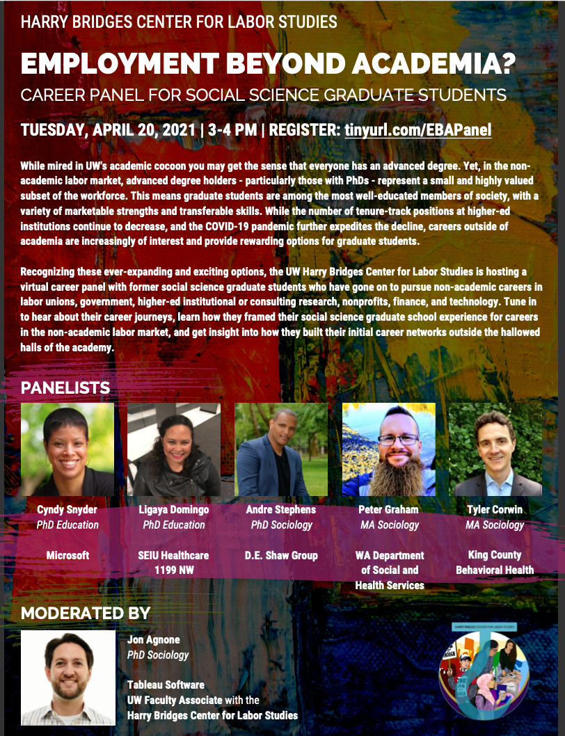 Employment Beyond Academia: Career Panel for Social Science Graduate Students